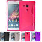 S Line Gel Soft Grip Jelly Silicone Skin Tpu Case Cover For Sony Xperia Sp M35H