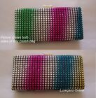 1x Diamante Multi-Colour Variation Glitter Sparkles Evening Clutch Colours