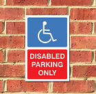 Disabled Parking Only Metal Sign, Various Sizes FREE P+P