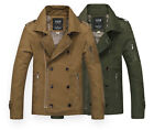 SJ142 New Spring Men's Classic fashion Canvas Slim Rider Zip Up Short Jackets