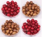 Wholesale Hot 200pcs brown/red Ball Wood Findings Spacer Beads Diy Jewelry 8mm