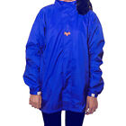 Alpha Unisex Short Royal Blue Monsoon Wear / Rain Wear Hooded Windcheater