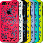 Cute Rose Hard Case Cover for Apple iPhone 5C 5/s 4/s with FREE Screen Protector
