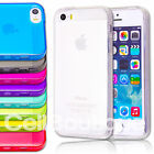 Soft Silicone Gel Back Case Cover Screen Protector for iPhone 4 5 4s 5s
