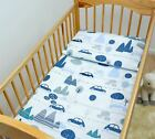 2 PIECE DUVET COVER & PILLOWCASE SET 120x90 cm BABY NURSERY BEDDING 100% COTTON