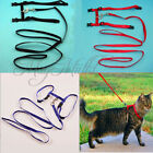 Nylon Pet Cat Kitten Adjustable Harness Lead Leash Collar Belt Safety Rope Q