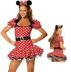 Ladies Minnie Mouse Style Costume Fancy Dress Small Medium Large Extra Large