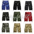 Men's Casual Short Cargo Combat Camo Camouflage Overall Shorts Sports Pants Q