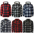 MENS ADULTS PADDED QUILTED LUMBERJACK FLANNEL FUR WORK JACKET WARM SHIRT TOP NEW