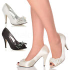 WOMENS LADiES WEDDING EVENING SANDALS BRIDAL PROM PARTY HIGH HEEL SHOES SIZE