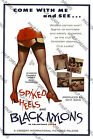 "Classic Vintage Pinup Movie Poster ""Spiked Heels and Black Nylons"" re-print"