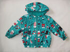 BNWT NEXT Girls Green Lolly Rain Coat Mac Cagoule With Hood 12-18 Mon 2-3-4 Year