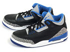 Nike Air Jordan 3 Retro AJ Basketball  Black/Sport Blue-Wolf Grey 136064-007