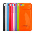 Portable 2200mAh Backup Battery Charger Charging Case Cover Pack for iPhone 5 5S