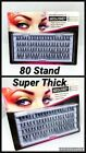 1-40 PACKS BULK DISCOUNT THICK 60 STAND INDIVIDUAL FALSE EYELASHES CLUSTER FLARE