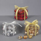 Christmas Tree Decoration 27 MULTI Metal 25mm Bell Baubles SILVER RED or GOLD