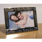 Personalised Engraved Silver Plated Photo Frame 18th / 21st / 30th Birthday Gift