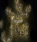 3 Pattern Set of 12 Moroccan Solar String Lanterns LED Fairy Lights Garden Warm