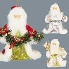 "Tree Top 6"" Santa - Christmas Decoration Ivory/Gold, Silver/White or Red/White"