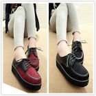 2014 New Women's Vintage Lace-up Creepers Flat shoes Boat Shoes 2 Colors XWD332
