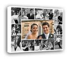 Personalised Photo Collage Printed - framed canvas ready to hang - 13photos f101