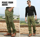 MILITARY MENS RETRO CARGO OUTDOOR COMBAT OVERALLS CASUAL TROUSERS NEW WORK PANTS