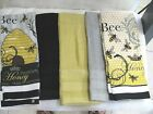 KITCHEN TOWELS/HAND  QUALITY  TOWELS 28 X 17  bee hive -be honey-COTTON