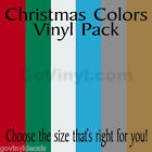 Christmas Holiday Color Vinyl Sheets - 6 Pack Colored Vinyl