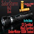 SolarStorm Pro Dx4 Diving  Scuba Dive Torch Flashlight 4 U2 Cree Led 6000LM IPX8