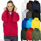 Ladies Loose Fit Hoodie Zip-Up Jacket Unisex Size UK 10 to 28 Plus