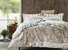 Pictorial 100% Cotton 3pc Bedding Set: Duvet Cover & Two Pillowcases TC300