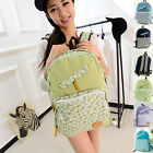 Women Girls Travel Canvas Backpacks Sport Rucksack Satchel School Bag Hiking Bag