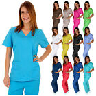 Kyпить Medical Women Scrubs Sets NATURAL UNIFORMS Size XS S M L XL 2XL 3XL Mock Wrap  на еВаy.соm