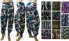New Ladies Full Length Ali Baba Harem Trousers Pants UK Size 8 - 22