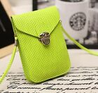 New PU Leather Mini Cross-body Messenger Purse Shoulder Bag Mobile Phone Bag G