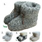 COZY FOOT, Womens/Ladies Natural Sheep Wool Sheepskin Slipper Boots All Size