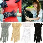 Sexy Women Lady Bridal Evening Wedding Party Prom Driving Costume Lace Gloves