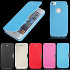 New Flip PU Leather Hard Magnetic Case Cover Skin For Apple iPhone 5 5S