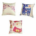Merry Christmas Theme Throw Sofa Pillow Case Decorative Cushion Cover 3 Patterns