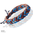 BUY 1 GET 1 FREE!!! Men Women Leather Plaited Wristband Bracelet MTUK89-97U3