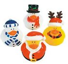 Set of 4 Christmas Holiday Rubber Ducks DUCKYS Duckies or Sticker #44122