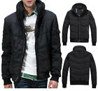 SJ119 New Men's Winter  Cotton Short Coat Thick Padded Collar Motor Jackets