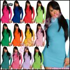 Womens Jumper Dress Pullover Ladies Jumper Casual Turtleneck One Size 6,8,10,12