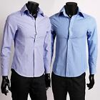6066 New Fashion Mens Slim Fit Luxury Casual Dress Shirts 2 Colors 4 US Size