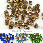 100 x Grade A Cut Diamond Pointed Back Crystals, Rhinestones, Foiled Gems, 3595