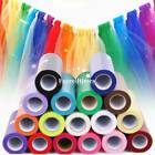 """6"""" 25Y Tutu Tulle Roll Spool Gift Bow Sewing Fabric Bridal Skirt Wedding Favours"""