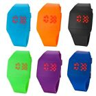 Blink Time MINI Watch Colourful Touch Operated LED Digital Silicone Strap