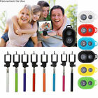 Selfie Handheld Monopod Holder+Bluetooth Shutter Remote Control For IOS Android