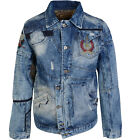 New Mens Bar of Denim JACKET Funky Jeans flashy quality denim