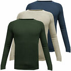Mens Medium Knit Winter Jumper Brave Soul Knitted Sweater Warm Plain Pullover